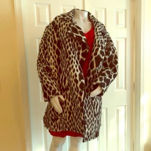 Banana Republic Leopard Coat Jacket 12